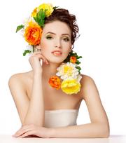 Красивые и романтичные девушки с цветами на белом фоне 2 Beautiful & romantic...